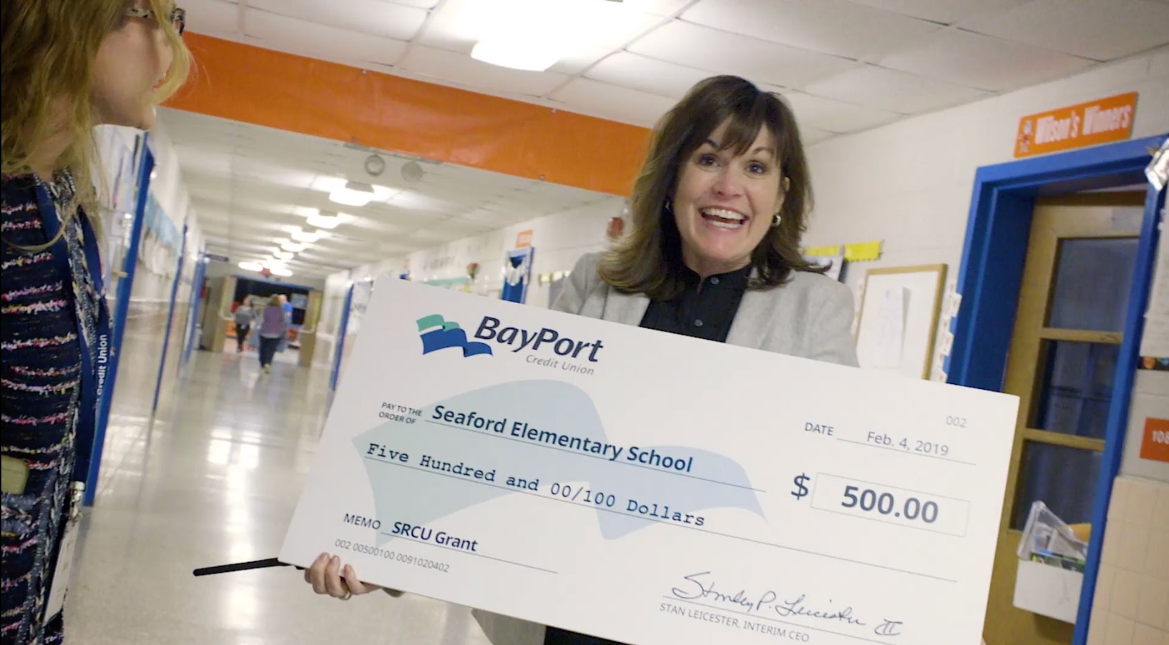 school receives more scholarship funding from BayPort