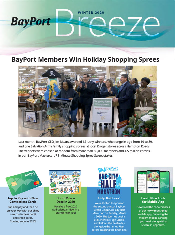 BayPort Breeze winter 2020 newsletter