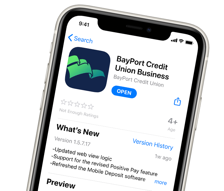 BayPort business banking app